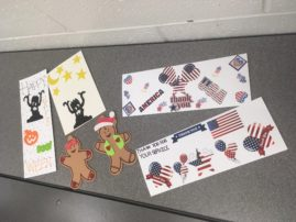 Cards for veterans by SALT students.